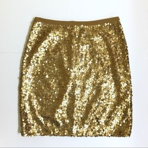 Broadway And Broome Madewell Gold Sequin Skirt